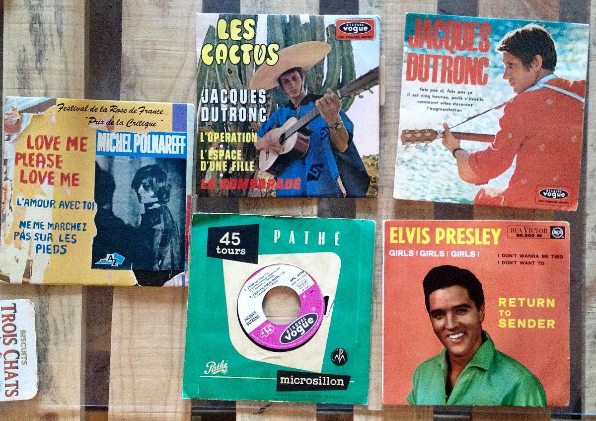 45T de Dutronc, Polnareff et Presley